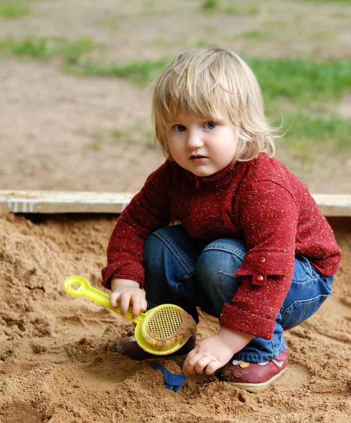 Spielsand ist besser formbar als normaler Sand